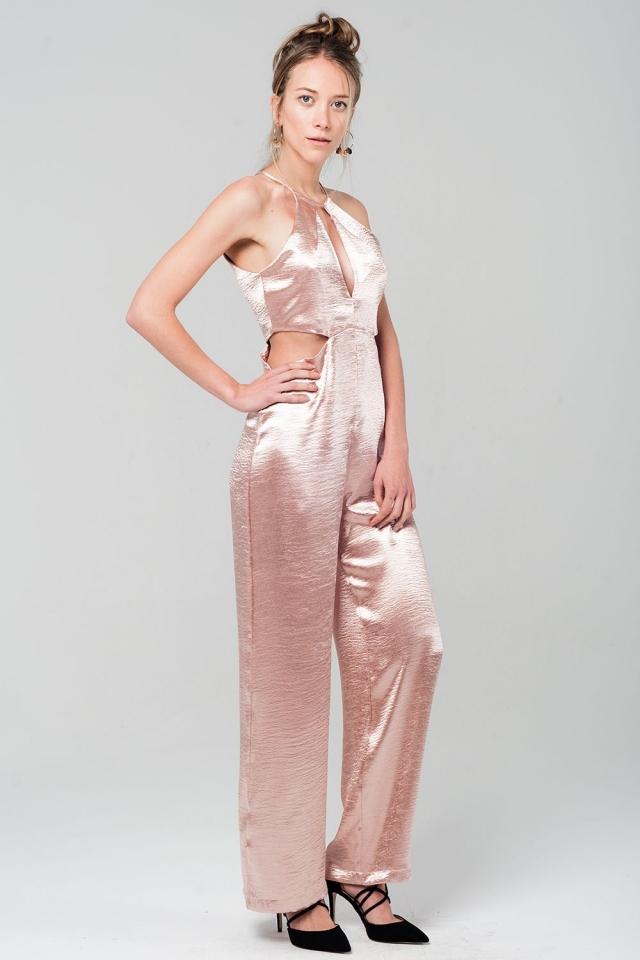 Metallic pink jumpsuit