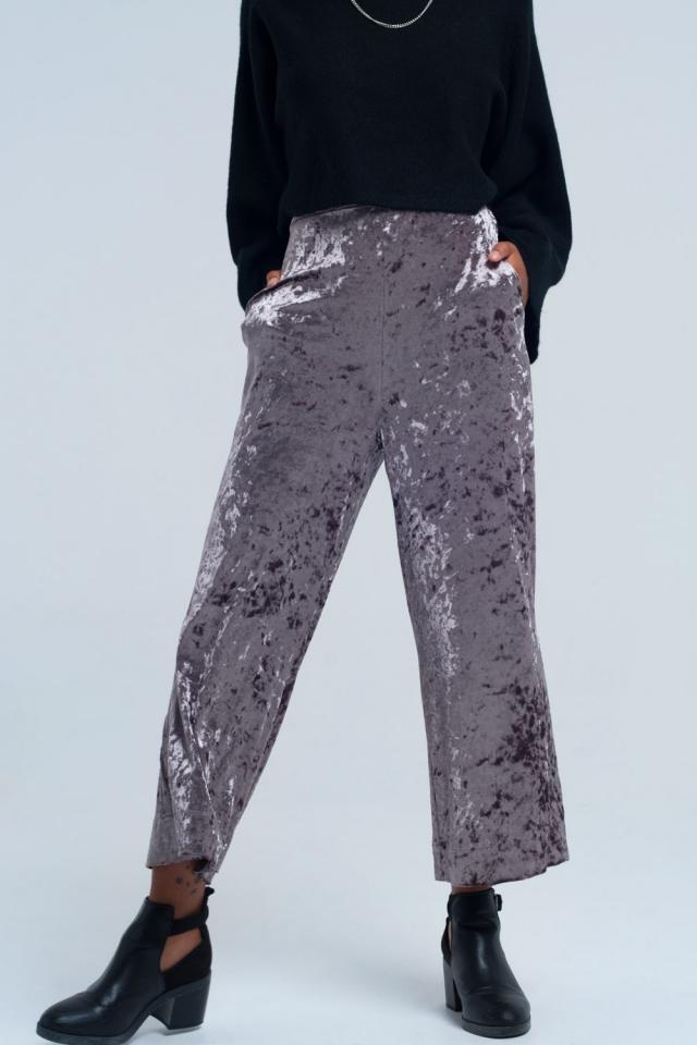 Grey metallic pants