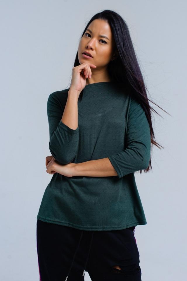 Grunes Hemd mit elastischem Band
