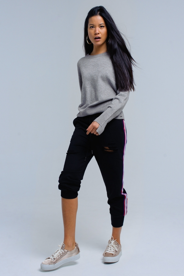 Black pants with rips