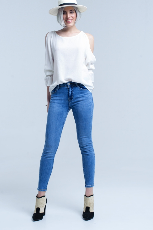 Basic denim skinny jeans