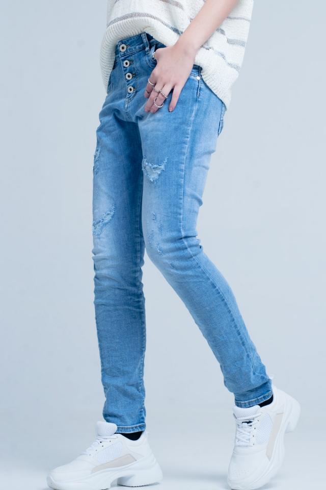 Jeans im Used-Look boyfriend