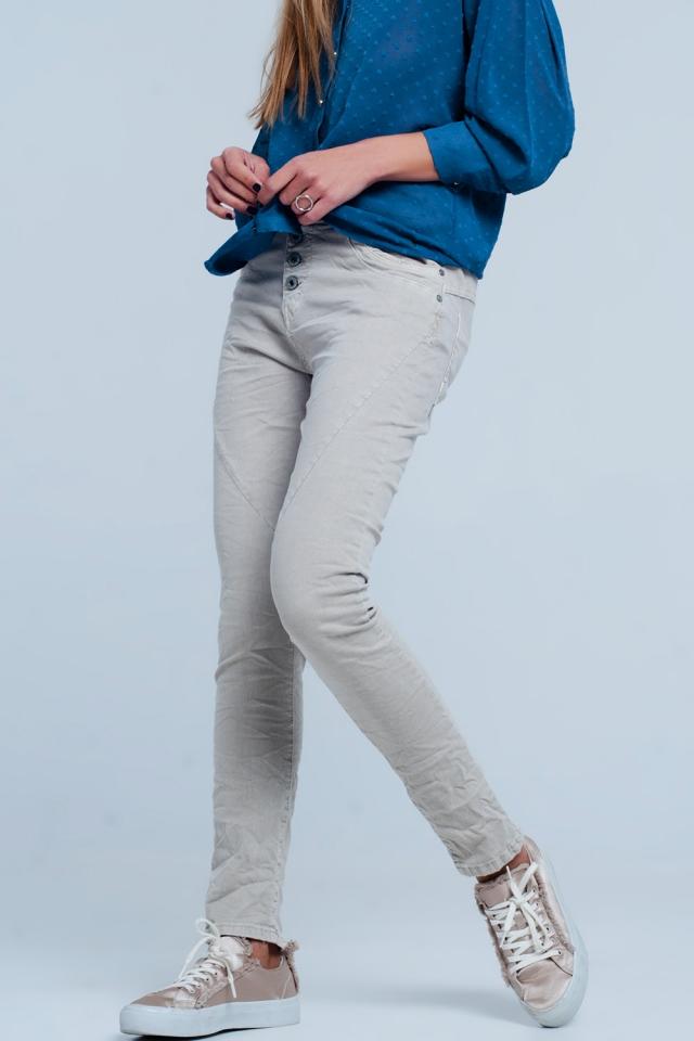 Original Boyfriend-Jeans in beige kleur