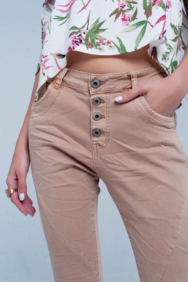 Braun Fransen Jeans
