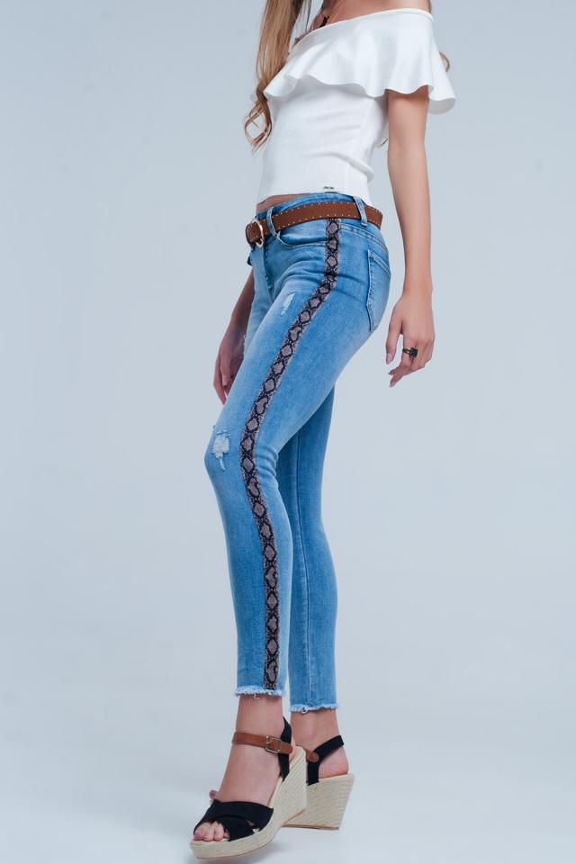 Side panel skinny jeans