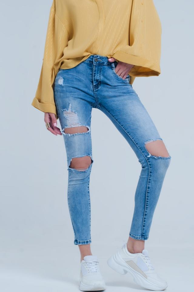 Helle Jeans verzweifelt Röhrenjeans