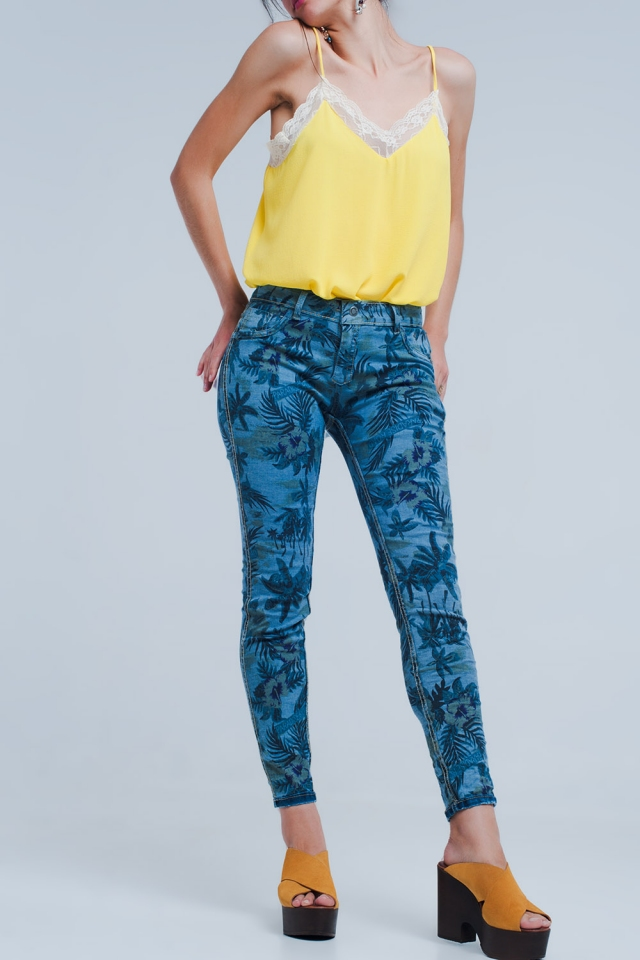 Jeans reversible in mid blue