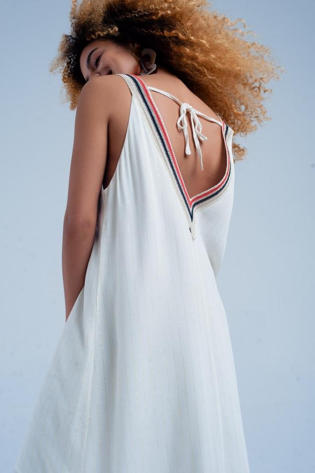 Lange Beige Kleid mit Trägern