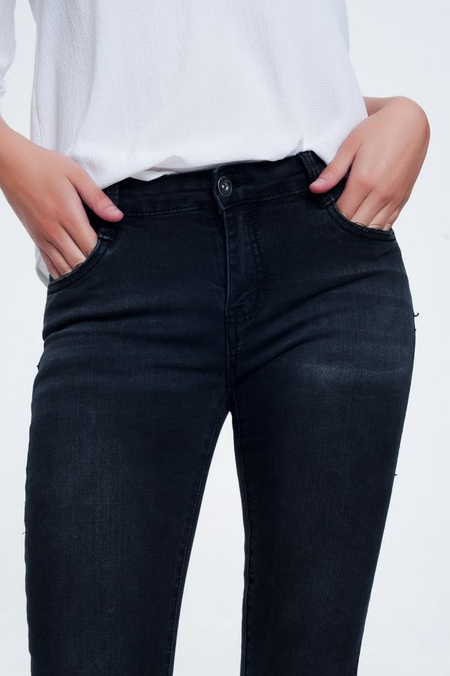 Washed Black Skinny Jeans