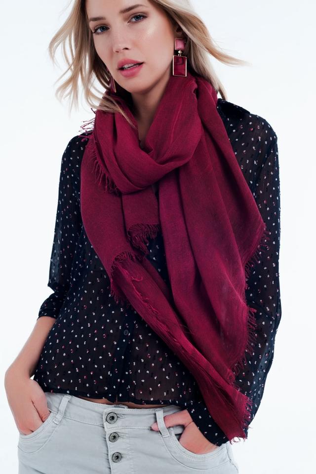 vintage wash Thin marron scarf