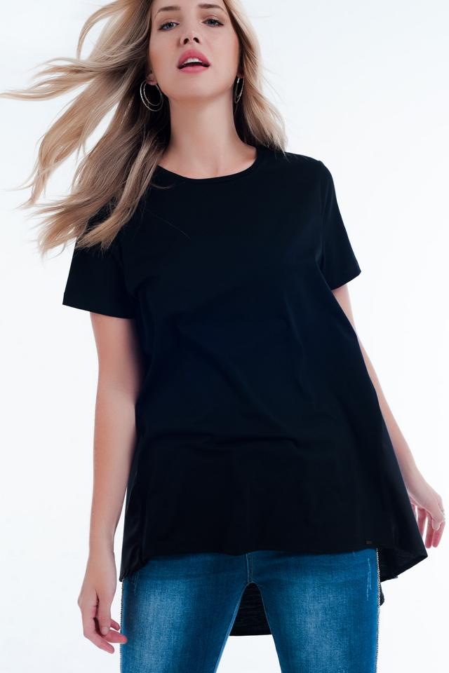 T-Shirt-Kleid in schwarz