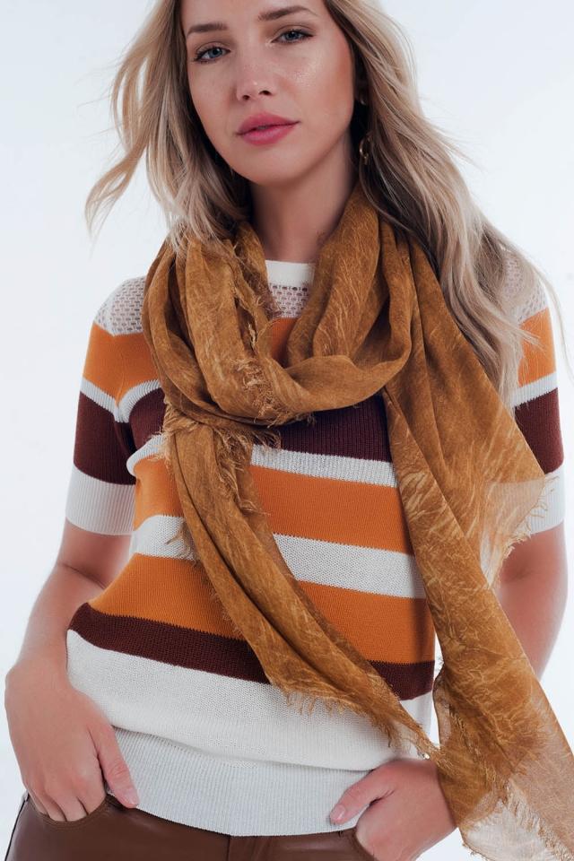 mustard vintage wash scarf