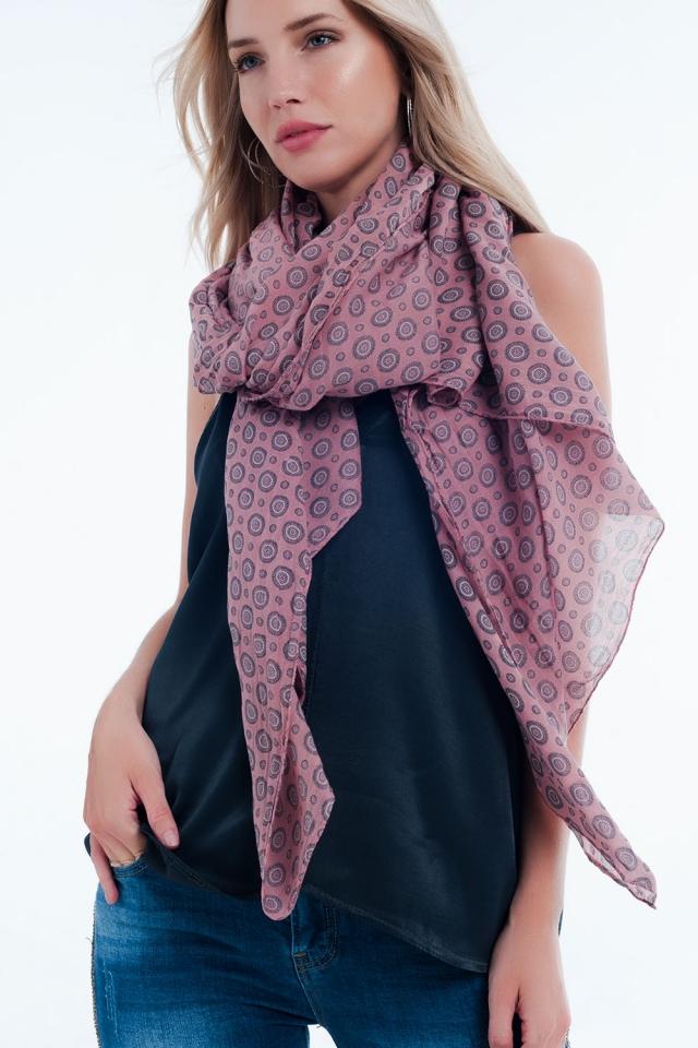 monogram pink neckerchief