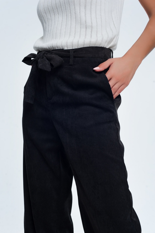 cord pants in black