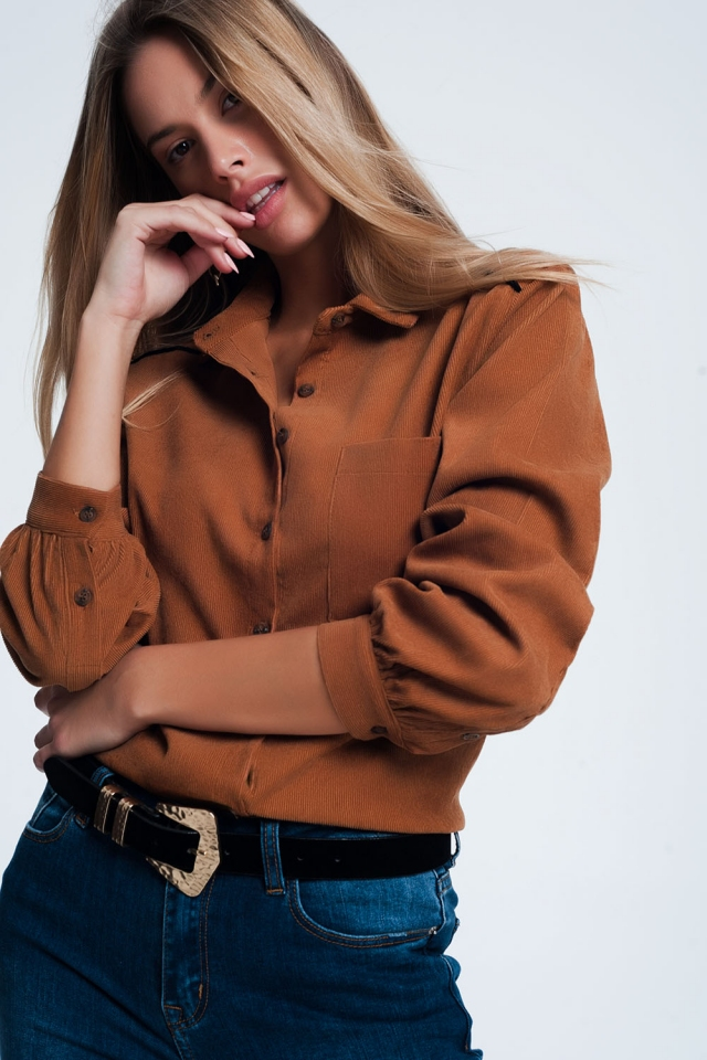 Brown cord shirt