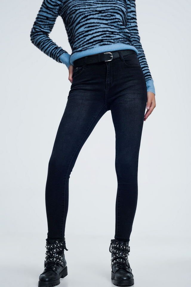 supersoft skinny jeans in black