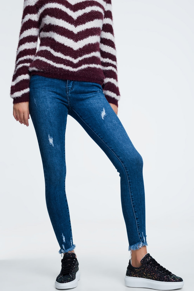 Ankle fray jeans