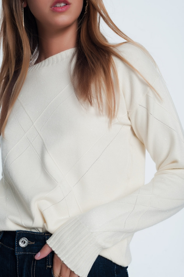 Cream long sleeve sweatshirt