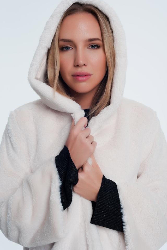 Fur jacket in cream