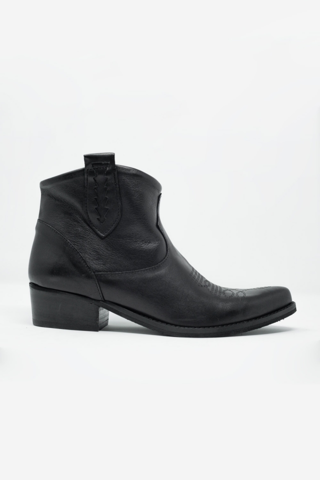 Black western sock boots with detail on the side