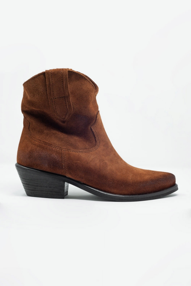 Brown western sock boots