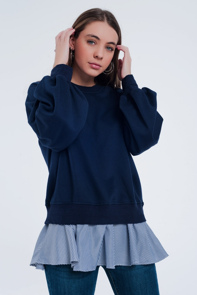 Navy blue classic sweater