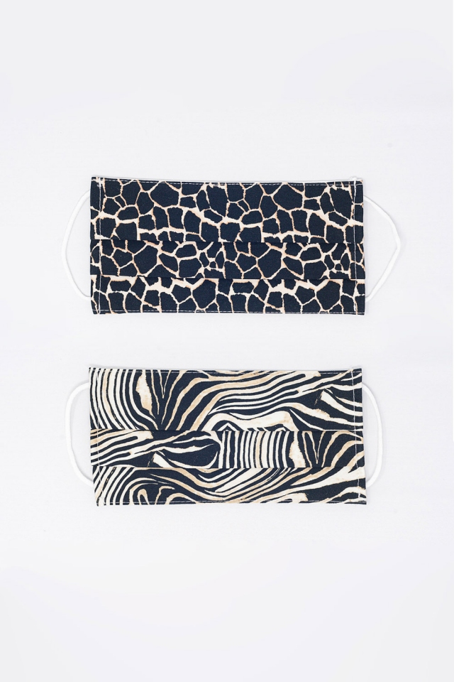 2 PACK Mix Animal Print Mask