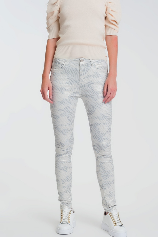 super skinny pants with stirrup in camo