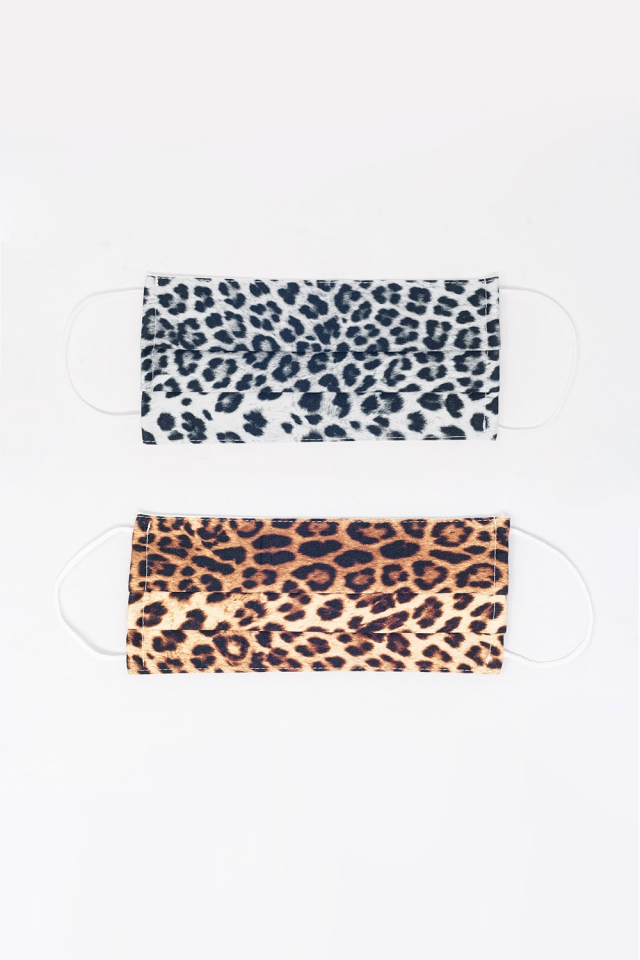 2 PACK Leopard Mix Print Mask