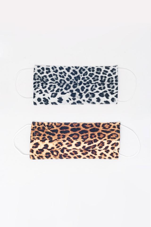 2 PACK Leopardenmuster-Maske