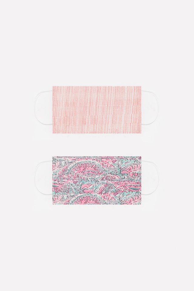 2 PACK organic cotton printed pink Mask