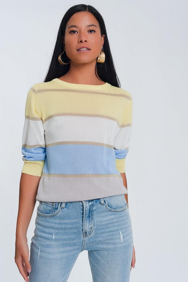 Striped jumper in multi