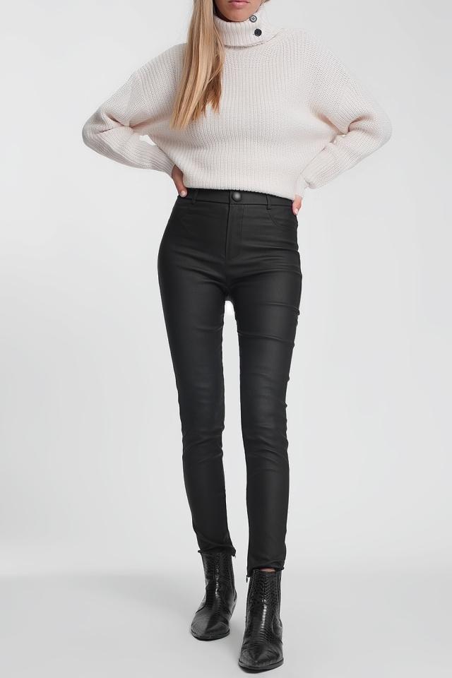 Black leggings full length
