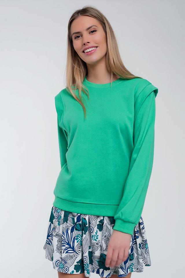 Sweatshirt met details op de schouders