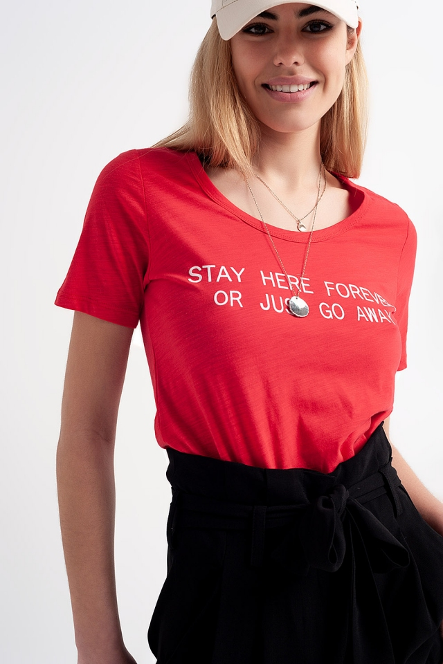 Graphic t-shirt in red