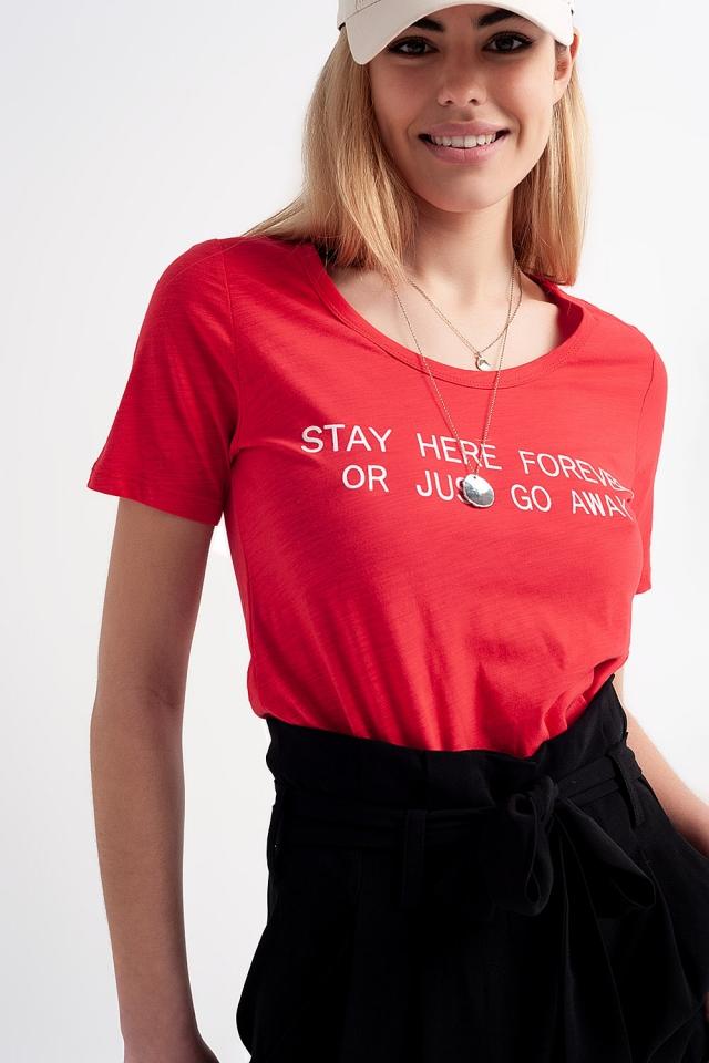 T-Shirt mit Print auf der Brust