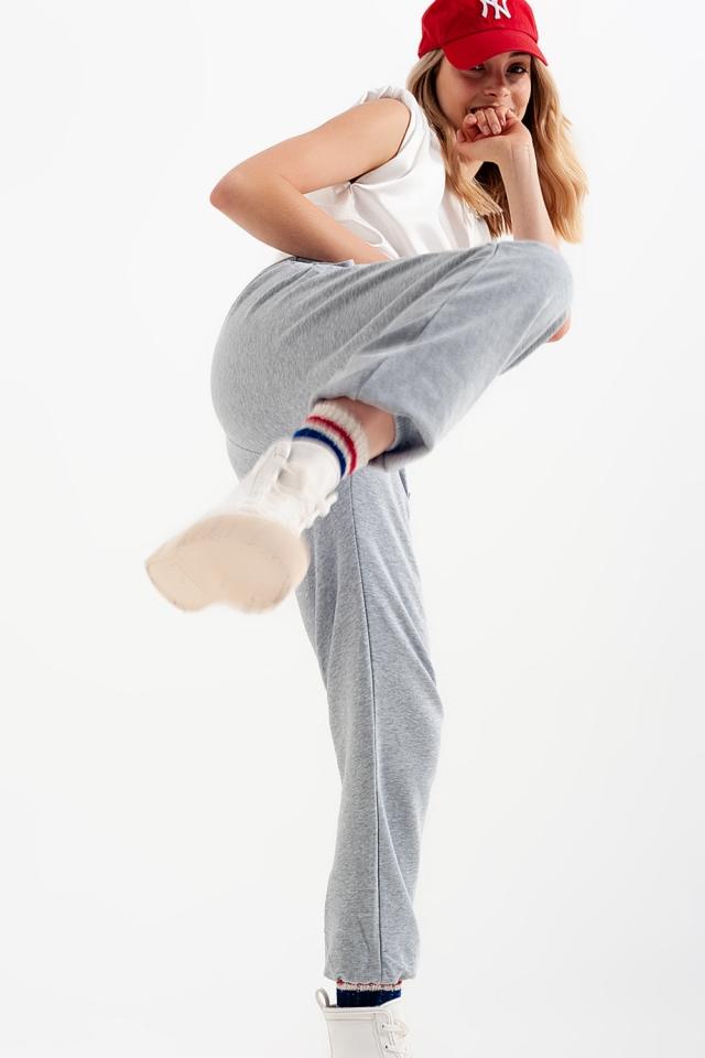 Jogginghose mit elastischem Taillenband in grav