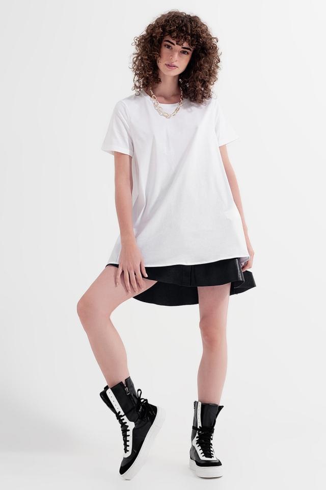 T-Shirt-Kleid in Weiß