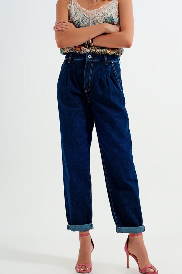 Locker geschnittene Jeans in Blau