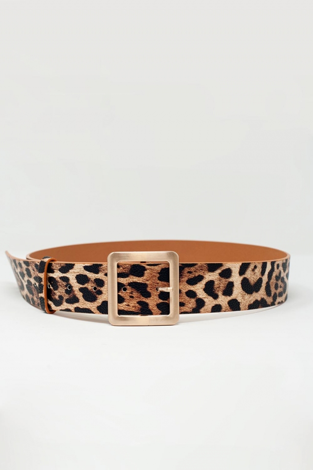 belt in leopard print
