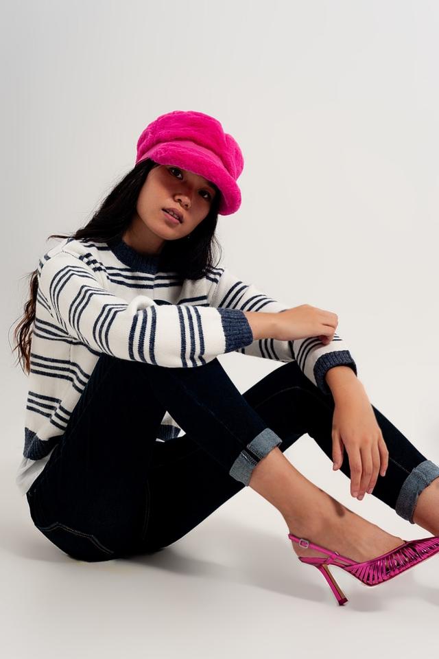 Langärmliger Pullover mit Streifen