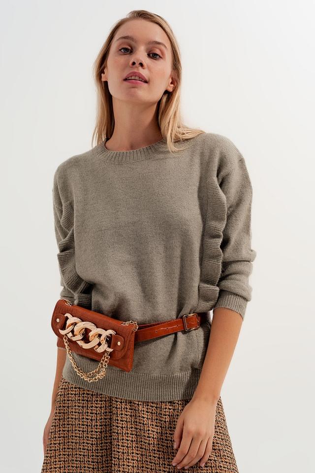 Pullover in Salbeigrün