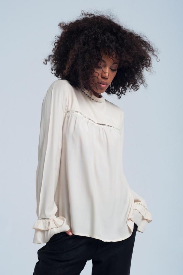 Flowing beige blouse